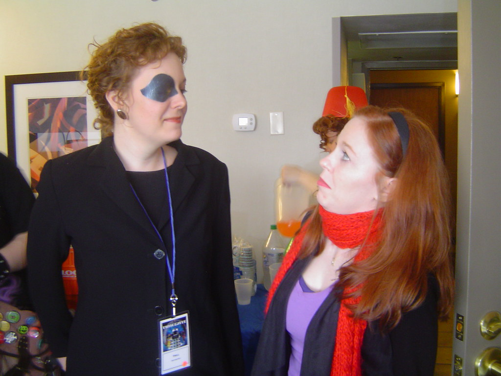 Eye Patch Lady and Amy Pond We tried really hard to keep s Flickr 1024x768