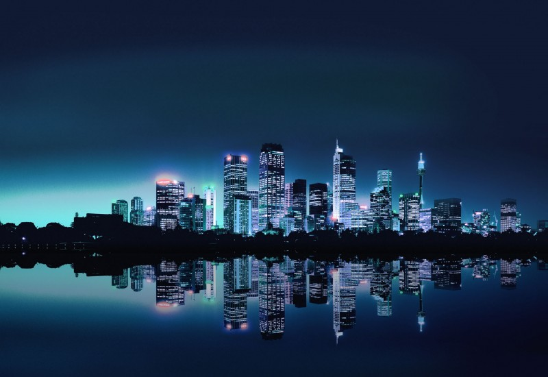 Home Toronto City Lights Skyline Wallpaper Mural 800x550