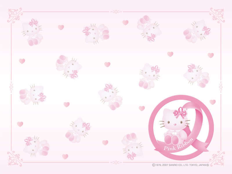 hello kitty pink wallpaper Hello Kitty Wallpaper 800x600