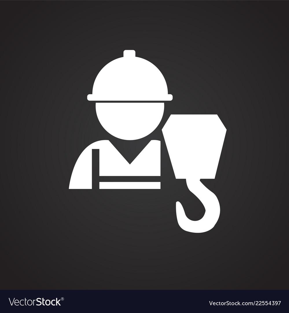Worker crane operator on black background Vector Image 999x1080