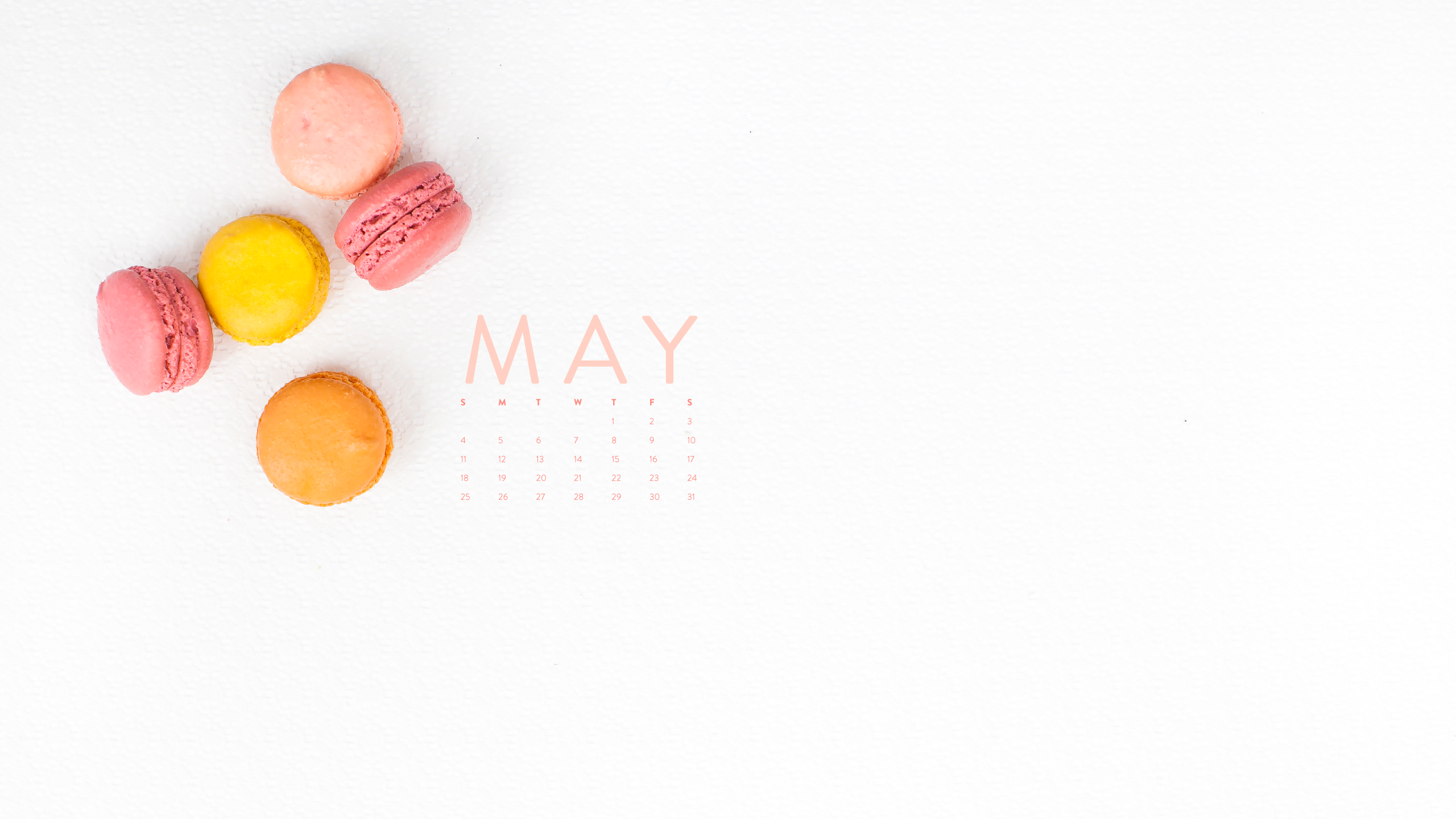 Happy May Desktop Calendar IPhone Wallpaper Ashlee Proffitt 2560x1440