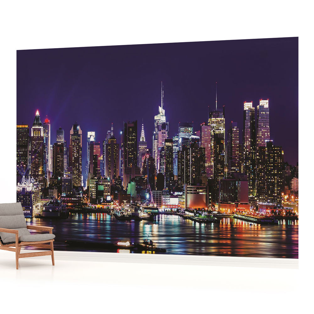 New York City Skyline Urban Photo Wallpaper Wall Mural Room 1310VE 1000x1000