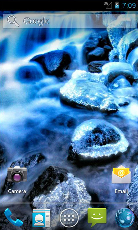Download River Crystals Live Wallpaper apps for Android phone 480x800