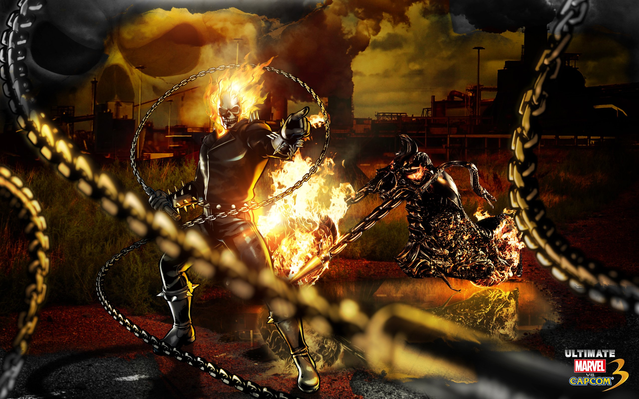Ghost Rider Marvel Vs Capcom Wallpapers HD Wallpapers 2560x1600