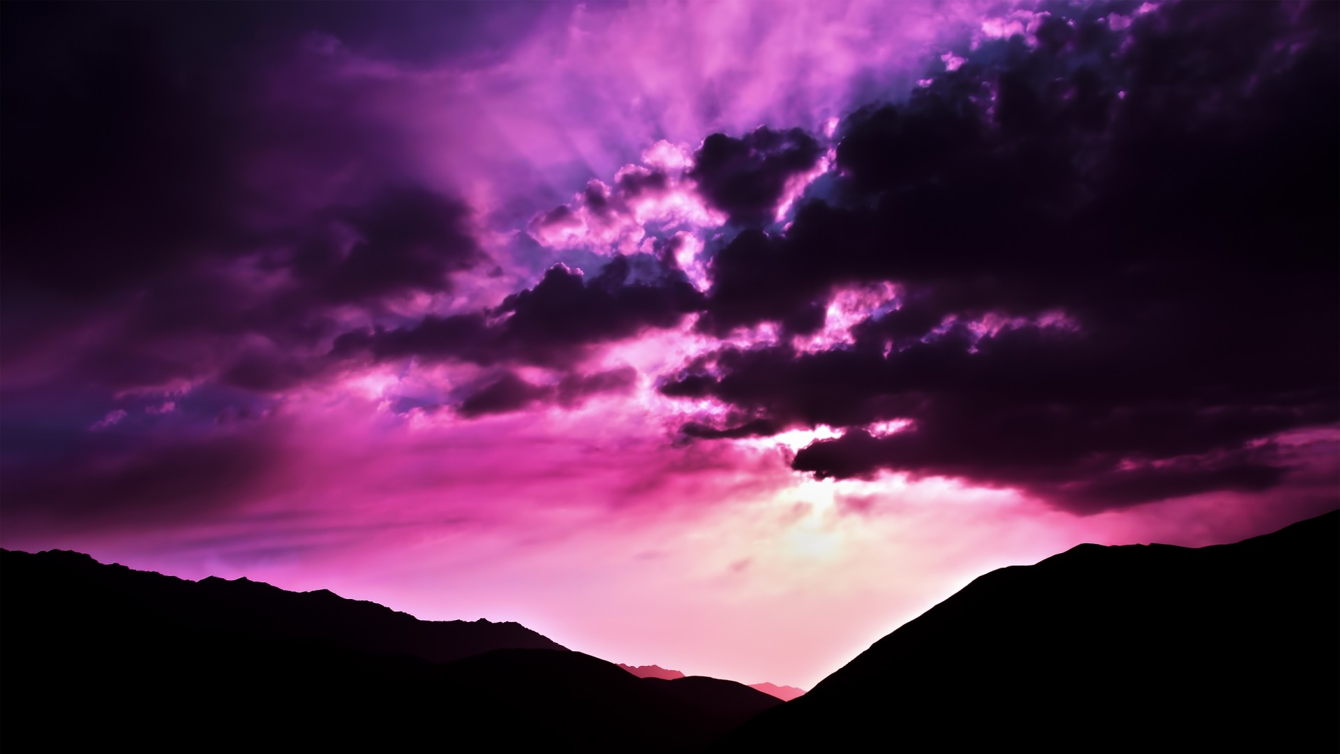 Nature Purple Wallpaper 1920x1080 Nature Purple Morning Scenario 1920x1080