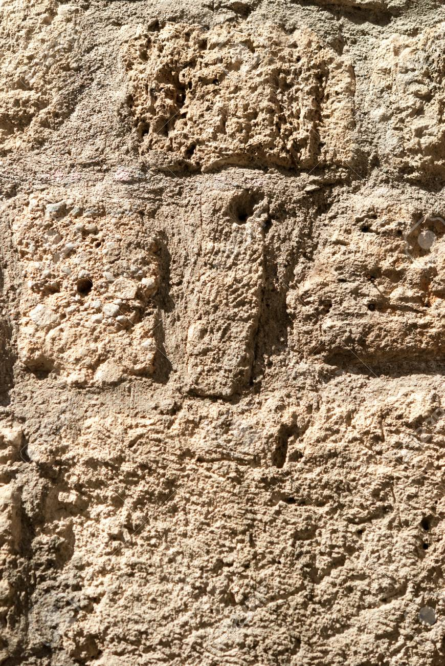 Surface Of Ancient Textured Stonework Background Brown Tint Stock 870x1300