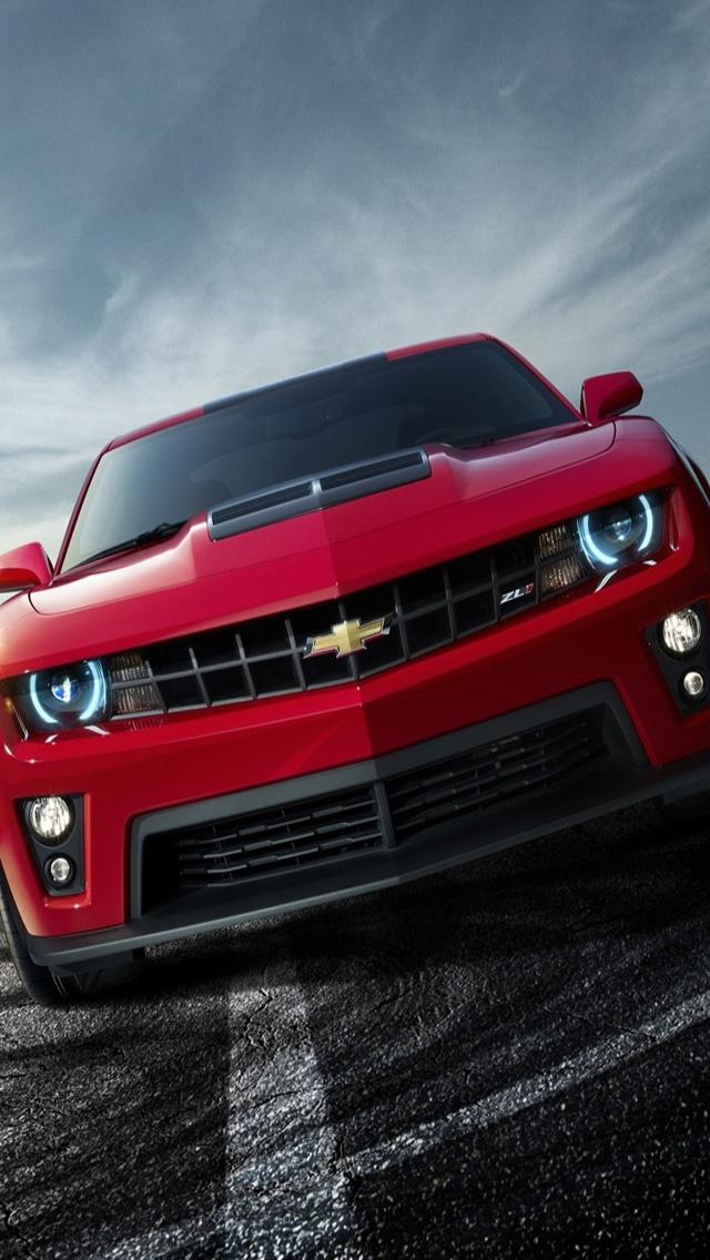 Chevrolet Camaro Zl1 Wallpaper Hd Chevrolet camaro zl1 front 640x1136