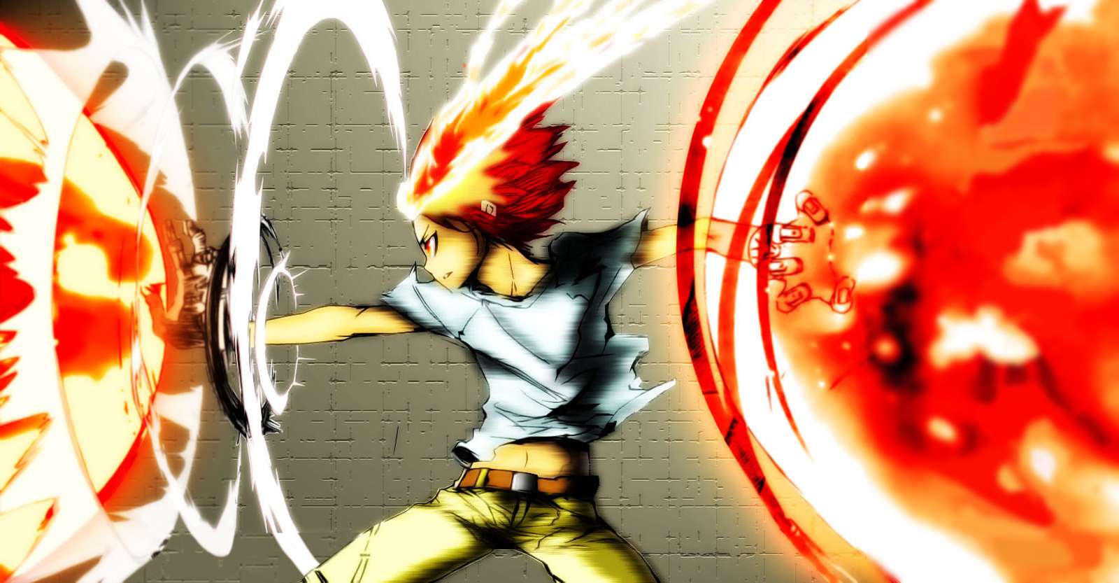 Katekyo Hitman Reborn Tsuna Anime Glove Flame HD Wallpaper Desktop PC 1600x833