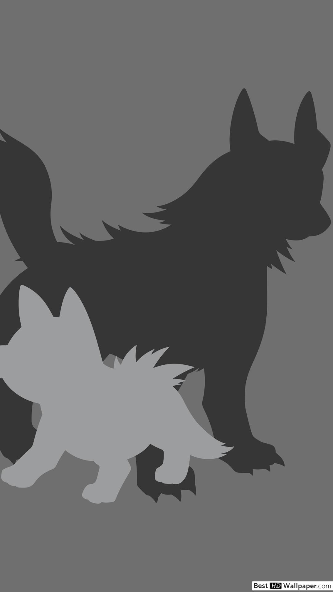 Mightyena and Poochyena of Pokemon HD wallpaper download 1080x1920