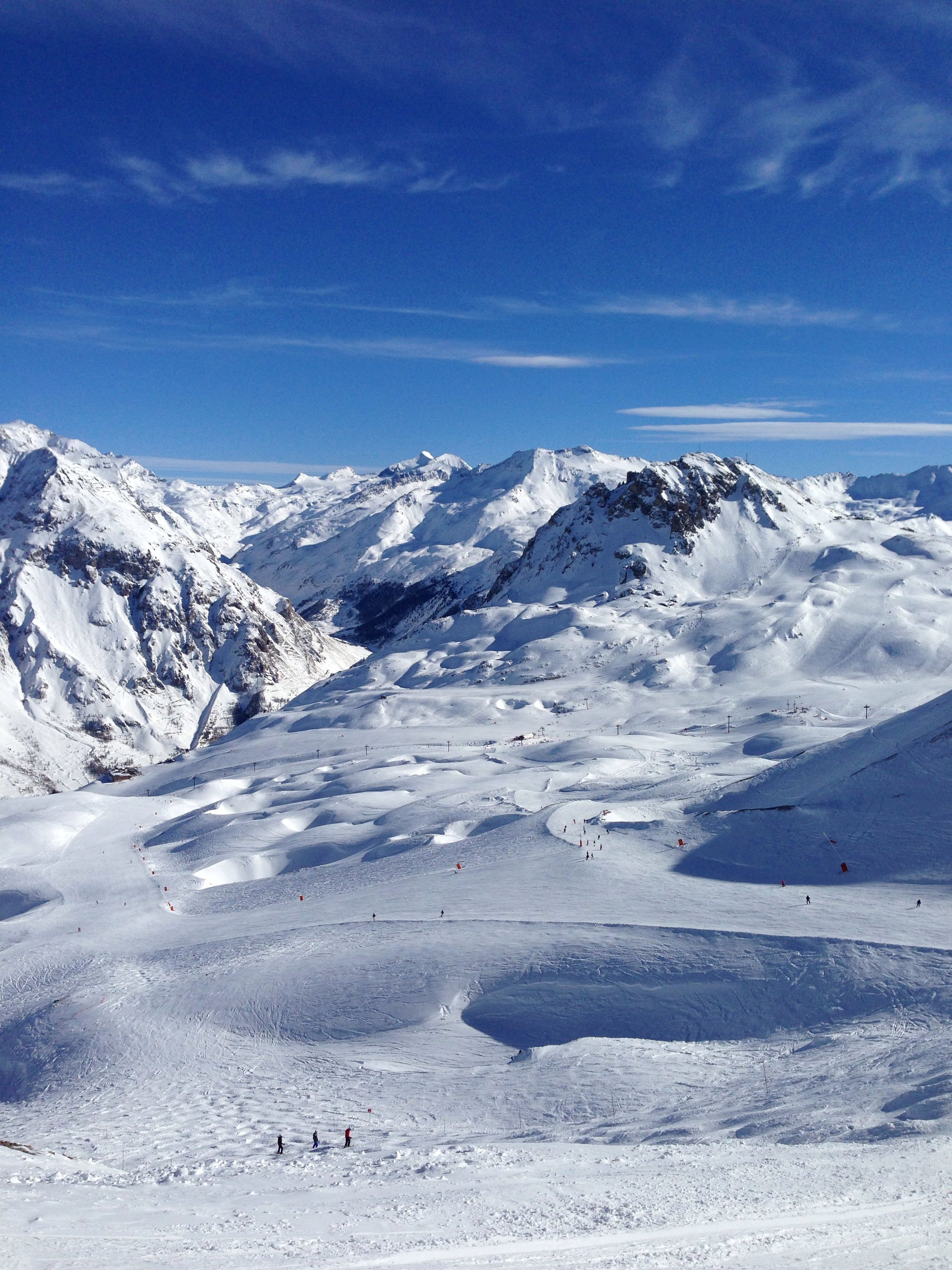 Tignes Val dIsere France Winter wallpaper Skiing Travel 2448x3264