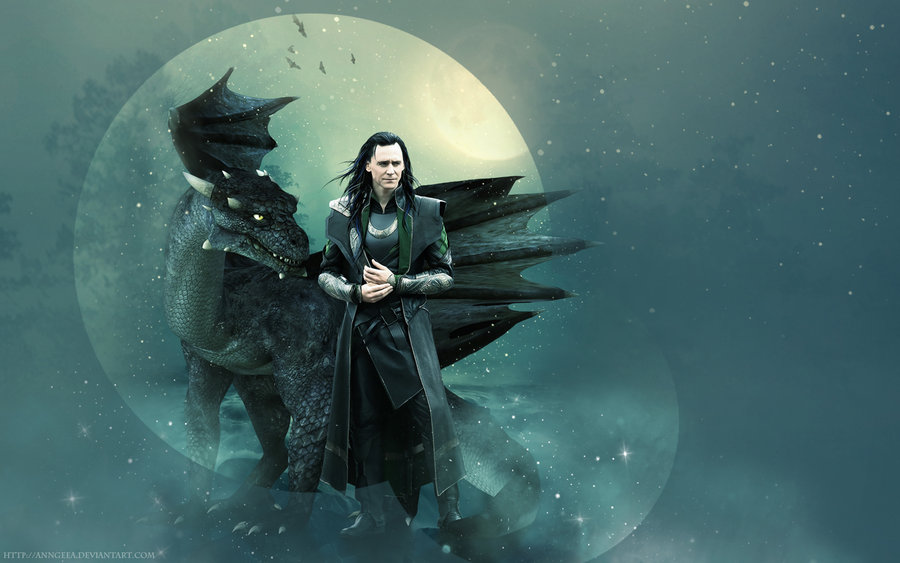 Loki and dragon wallpaper by AnnGeea 900x563