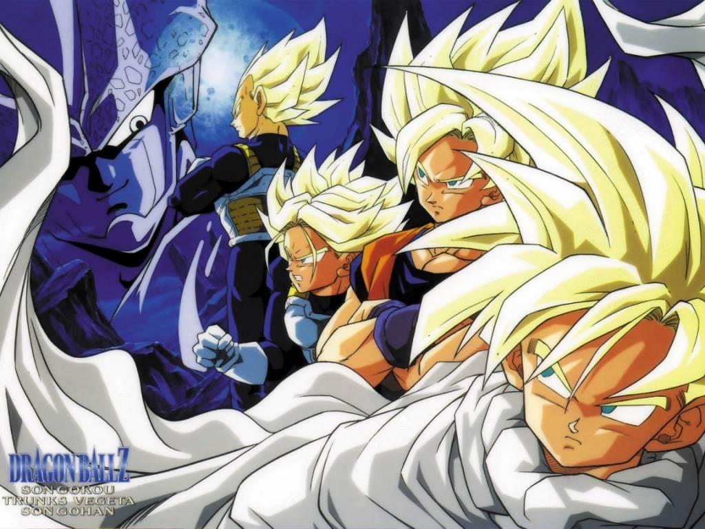 trunks gohan goku vegeta and all heroes wallpapers Anime Animejpgru 1024x768