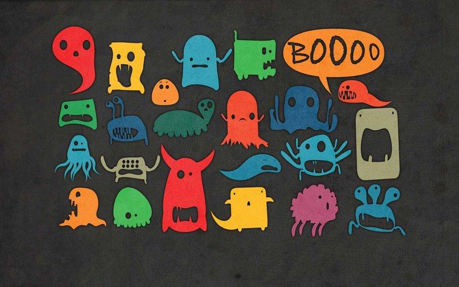 47 cute monster wallpaper on wallpapersafari