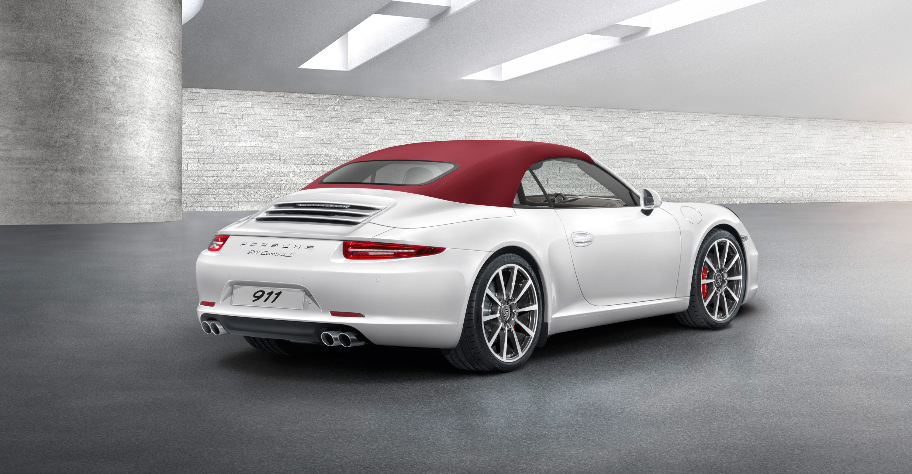 2012 white Porsche 911 Carrera S Cabriolet wallpapers 3000x1560