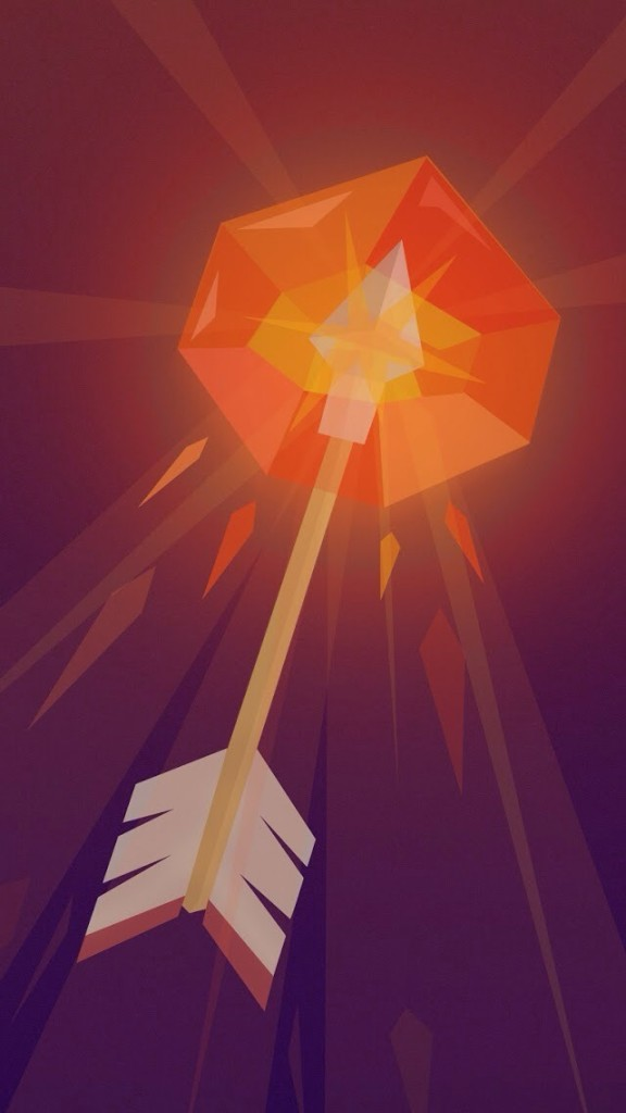 Burning Arrow Illustration Wallpaper   iPhone Wallpapers 576x1024