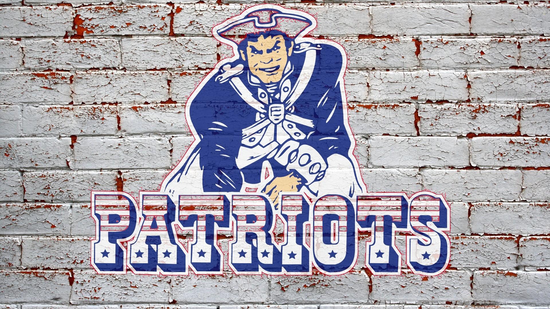 NFL New England Patriots Logo On Grey Brick Wall 1920x1080 HD NFL 1920x1080