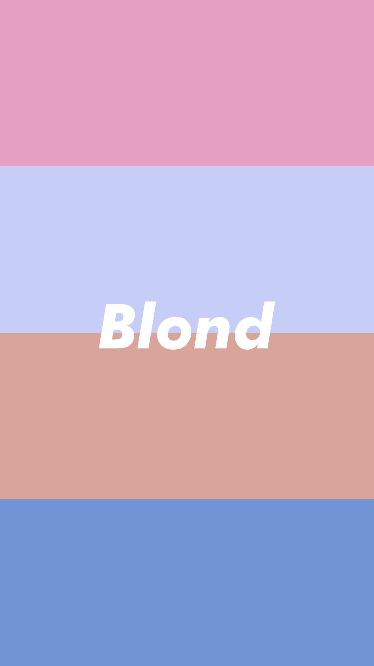 I made a minimalistic iPhone 7 Blond Wallpaper for you guys 750x1334