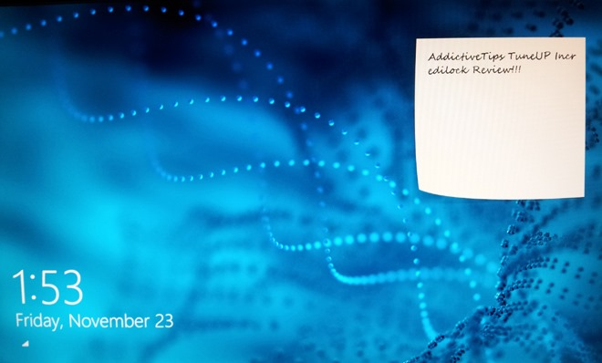 Sticky Notes Other Widgets To Windows 8 Lock Screen With IncrediLock