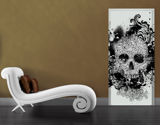 Door Photo Wall Mural Skull Wallpaper Motif Murals Self Adhesive Death 510x400
