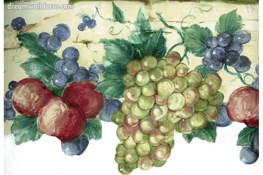 Green Grapes Tropical Fruits Wallpaper Border 900x600