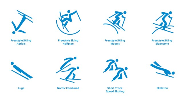 Pyeongchang 2018 Olympic Pictograms Related Keywords 640x360