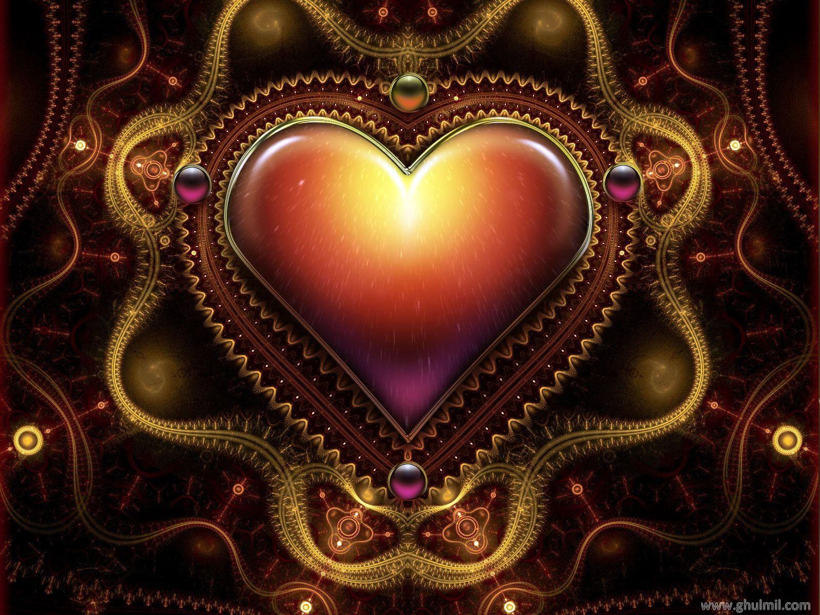 Beautiful 3d Hd Heart Mobile Wallpaper En gzel masast hd favori 1600x1200