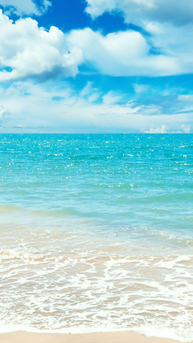 Wallpaper Ocean 5k 4k wallpaper 8k shore beach clouds sky 640x1138