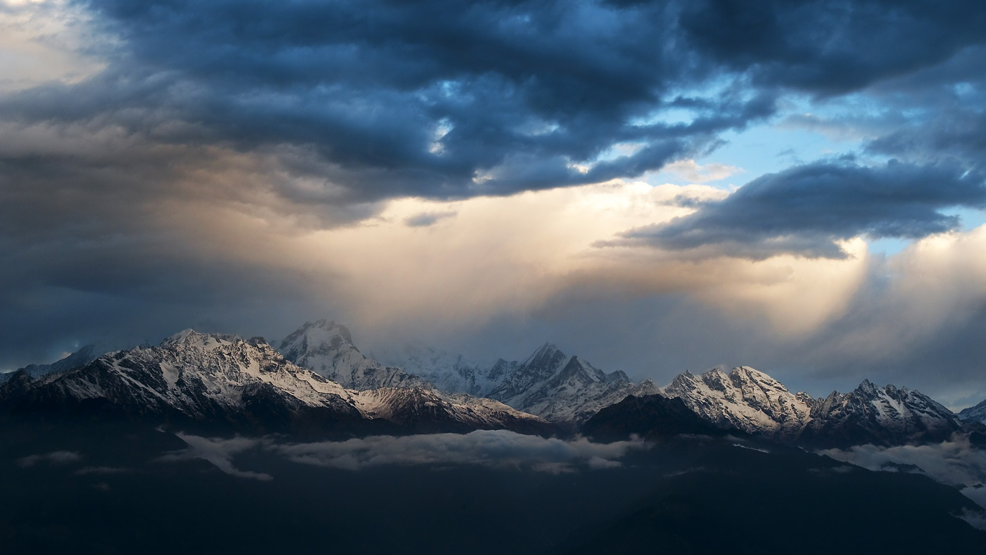 Sunrise mountains Nepal Himalaya wallpaper 1920x1080 62598 1920x1080