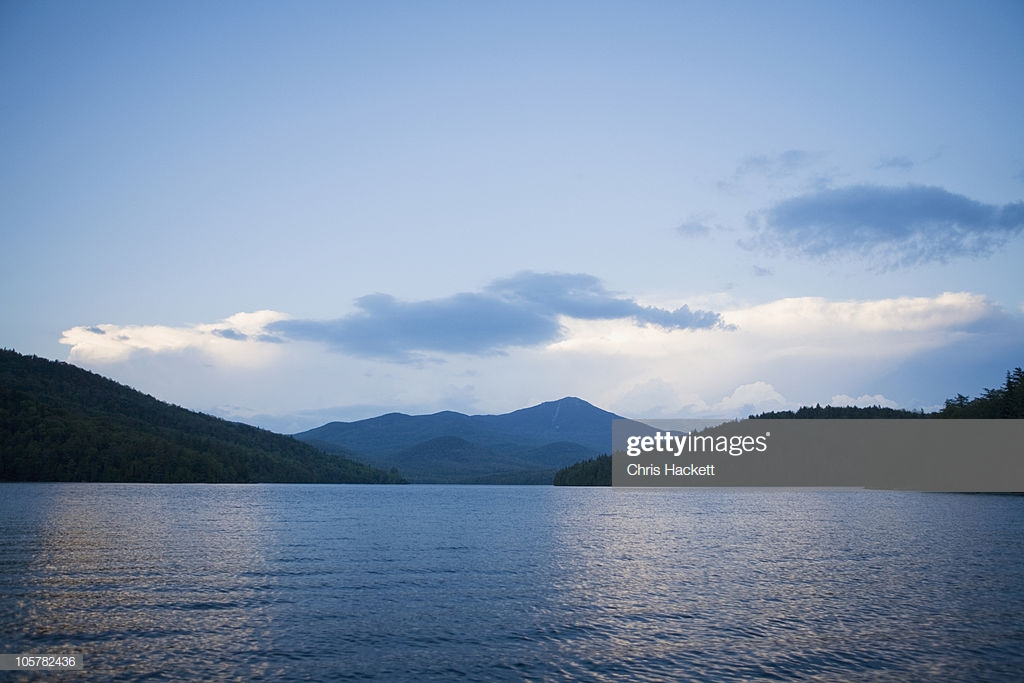 Lake Placid With Whiteface Mountain In Background Stock Photo 1024x683