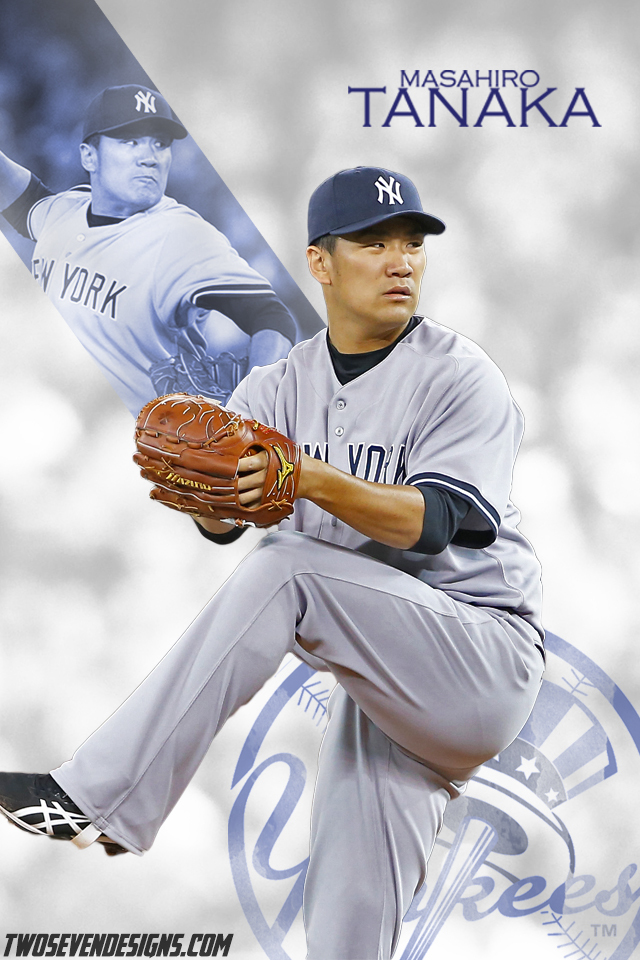 Masahiro Tanaka iPhone Wallpaper Two Seven Designs 640x960