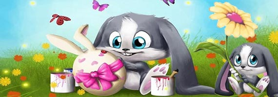 Kids Easter   31 Cute Easter wallpapers 570x200