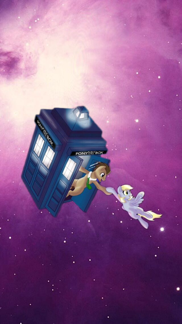 Dr Whooves and Derpy wallpaper Doctor whooves My lil pony My 640x1136