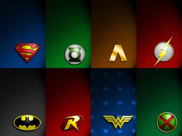 Justice League dc comics justice league logos 1600x1200 wallpaper 600x450