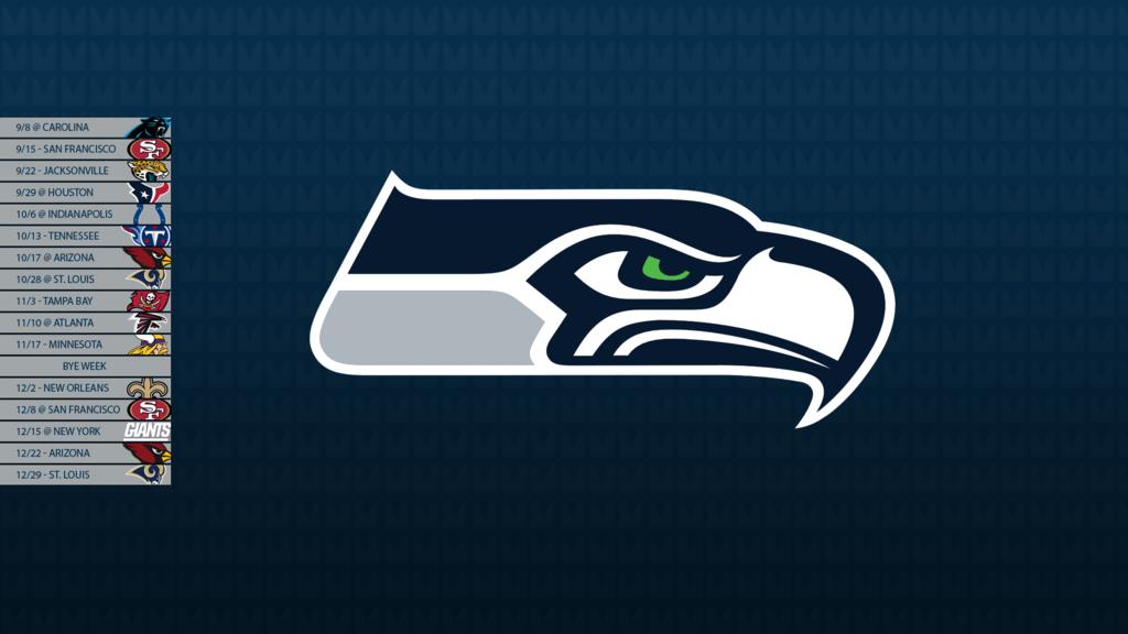 Seattle Seahawks 2013 Schedule Wallpaper by SevenwithaT 1024x576