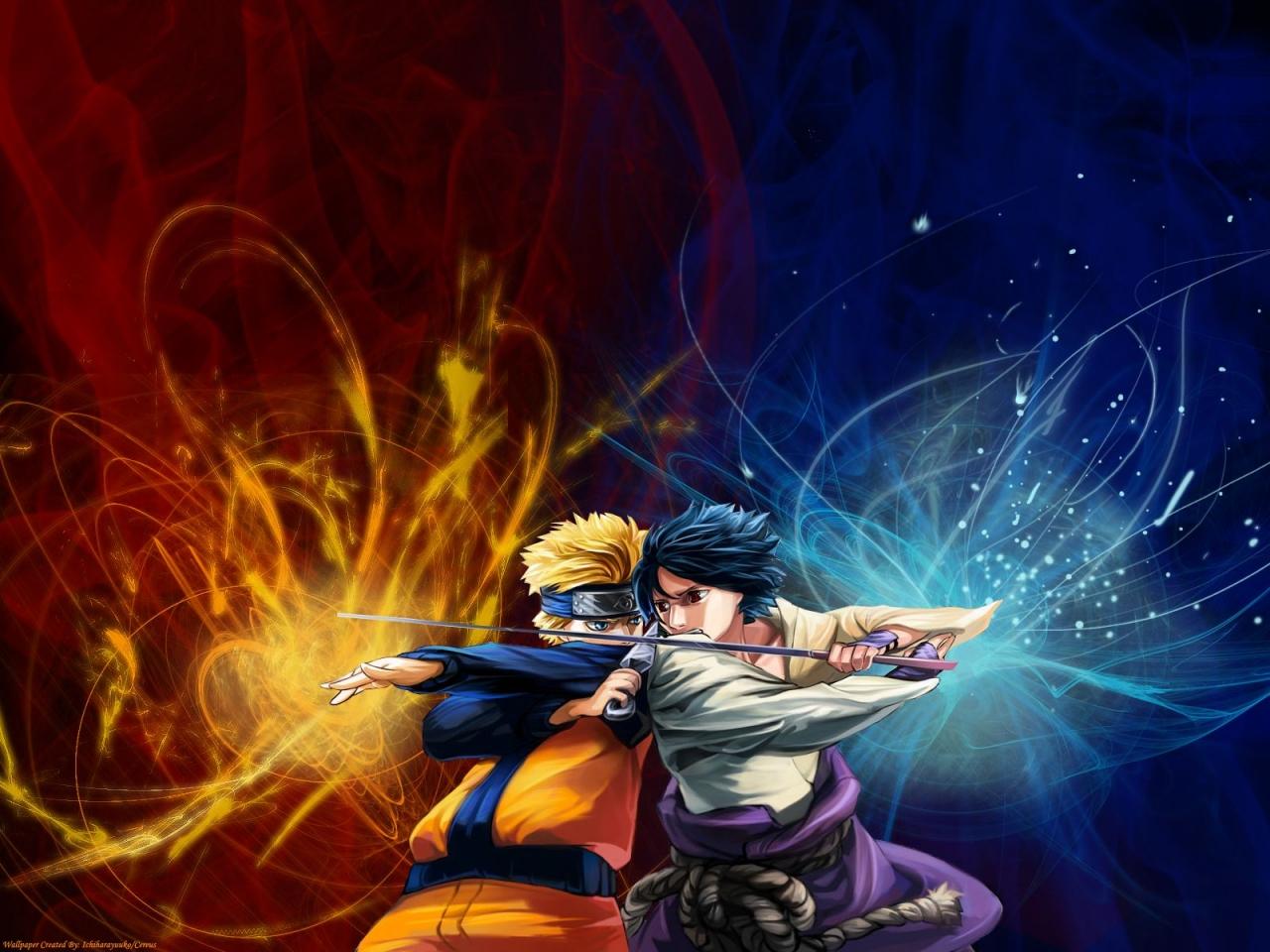 WallpapersKu: Naruto vs Sasuke Wallpapers