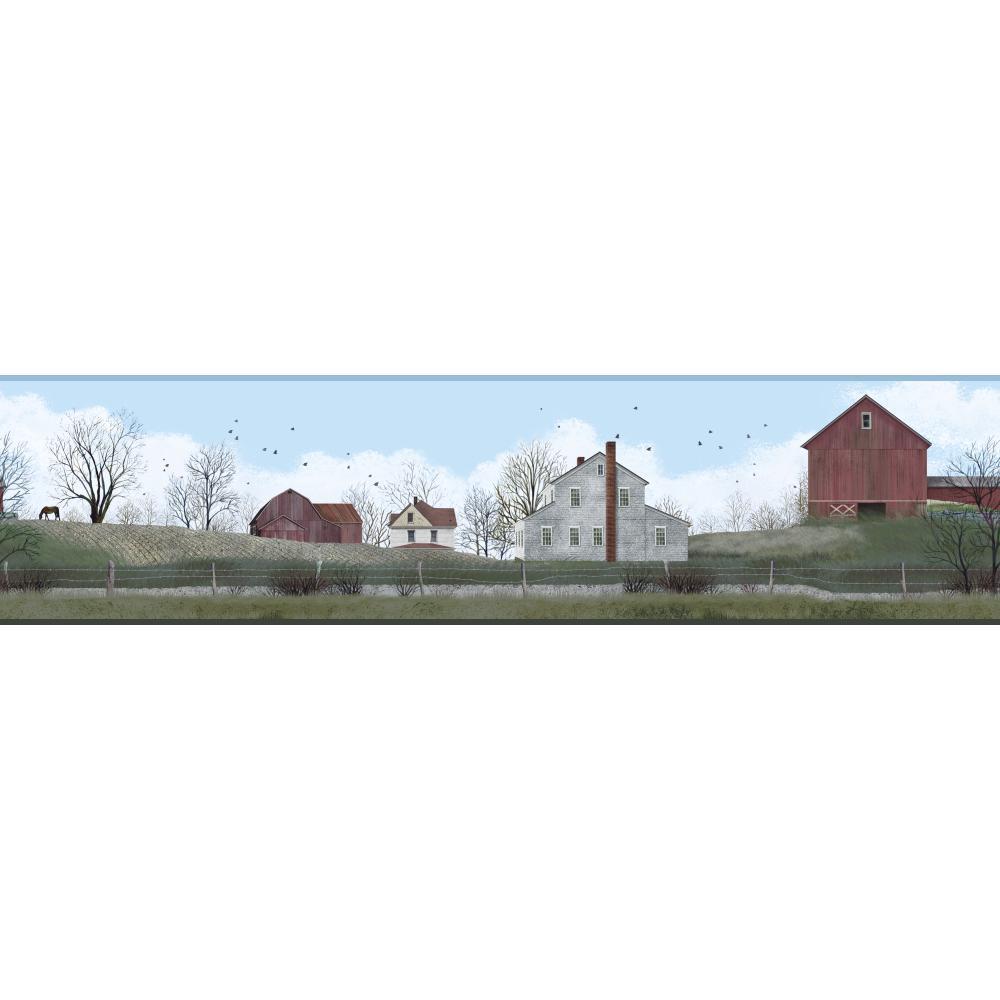 BG1628BD Rural Route Farm Country Landscape Wallpaper Border eBay 1000x1000