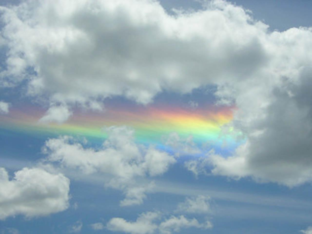 blue cloud with rainbow wallpaper - photo #35