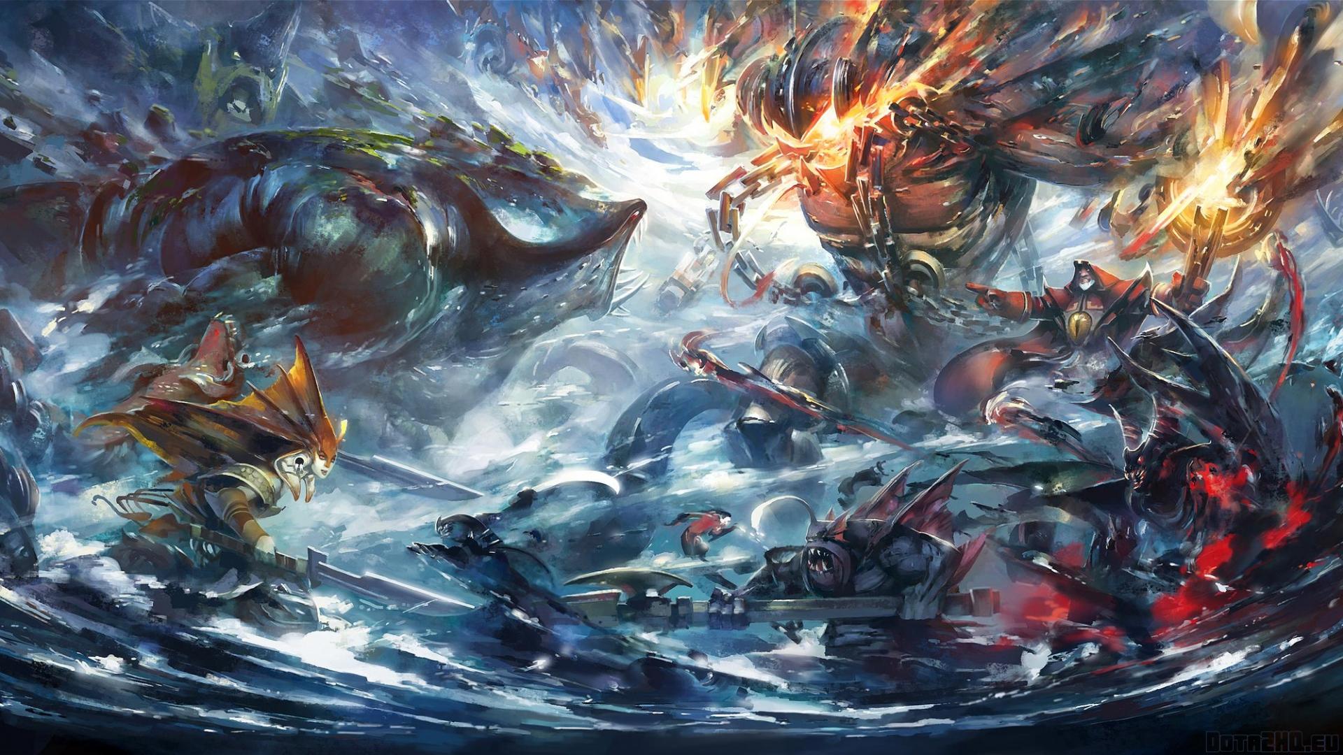 Download Wallpaper 1920x1080 Dota 2 Epic battle Art Full HD 1080p HD 1920x1080