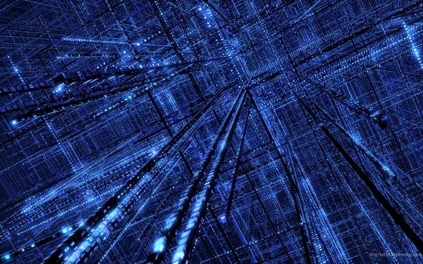 blue3D view 3d view blue box grid 1920x1200 wallpaper 3D 600x375