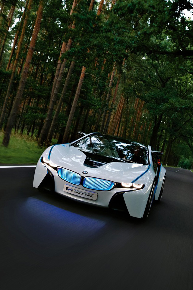 Cool white BMW sports car iPhone wallpaper iPhone 4 wallpaper 640x960