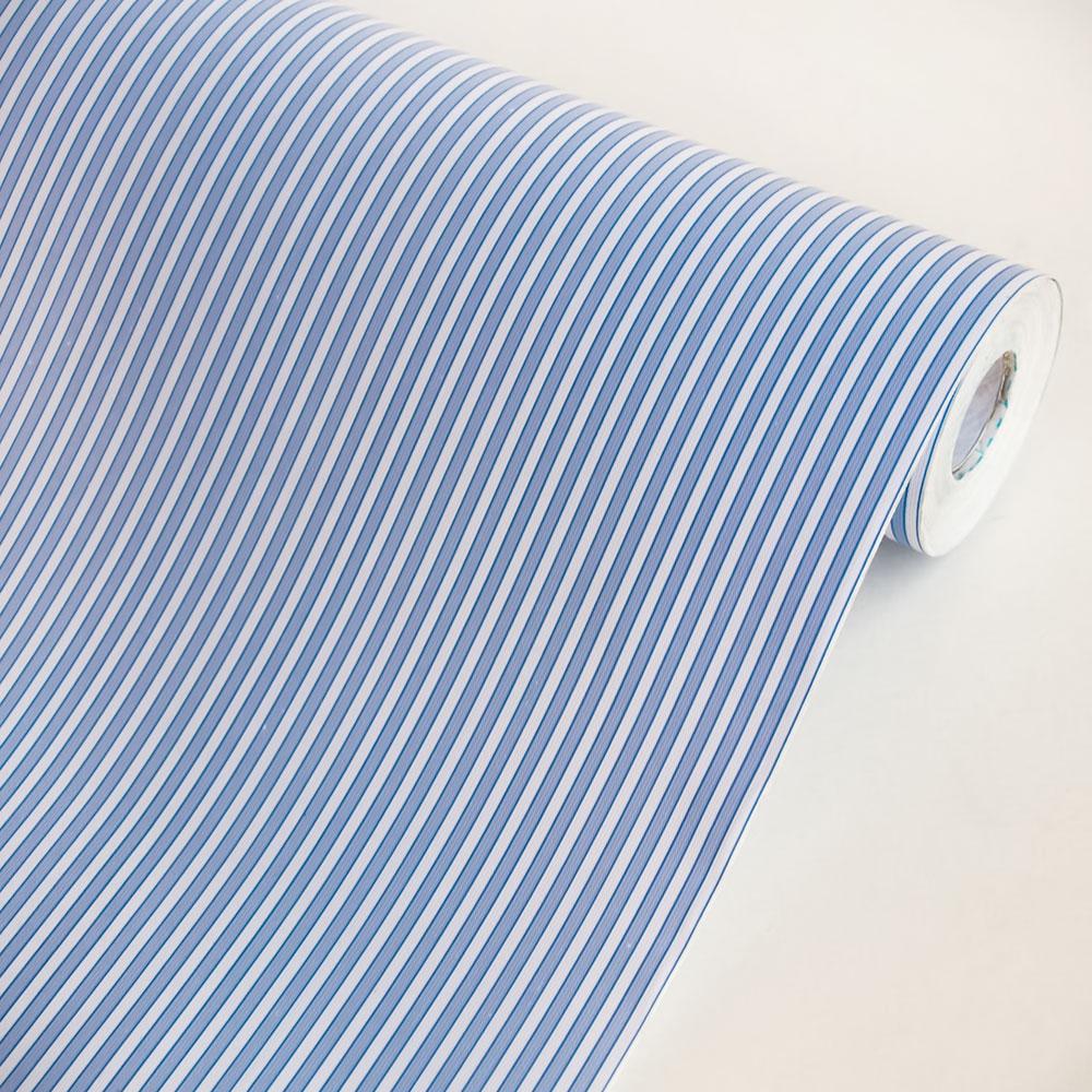 Blue Stripe   Self Adhesive Wallpaper Home Decor Sample 1000x1000