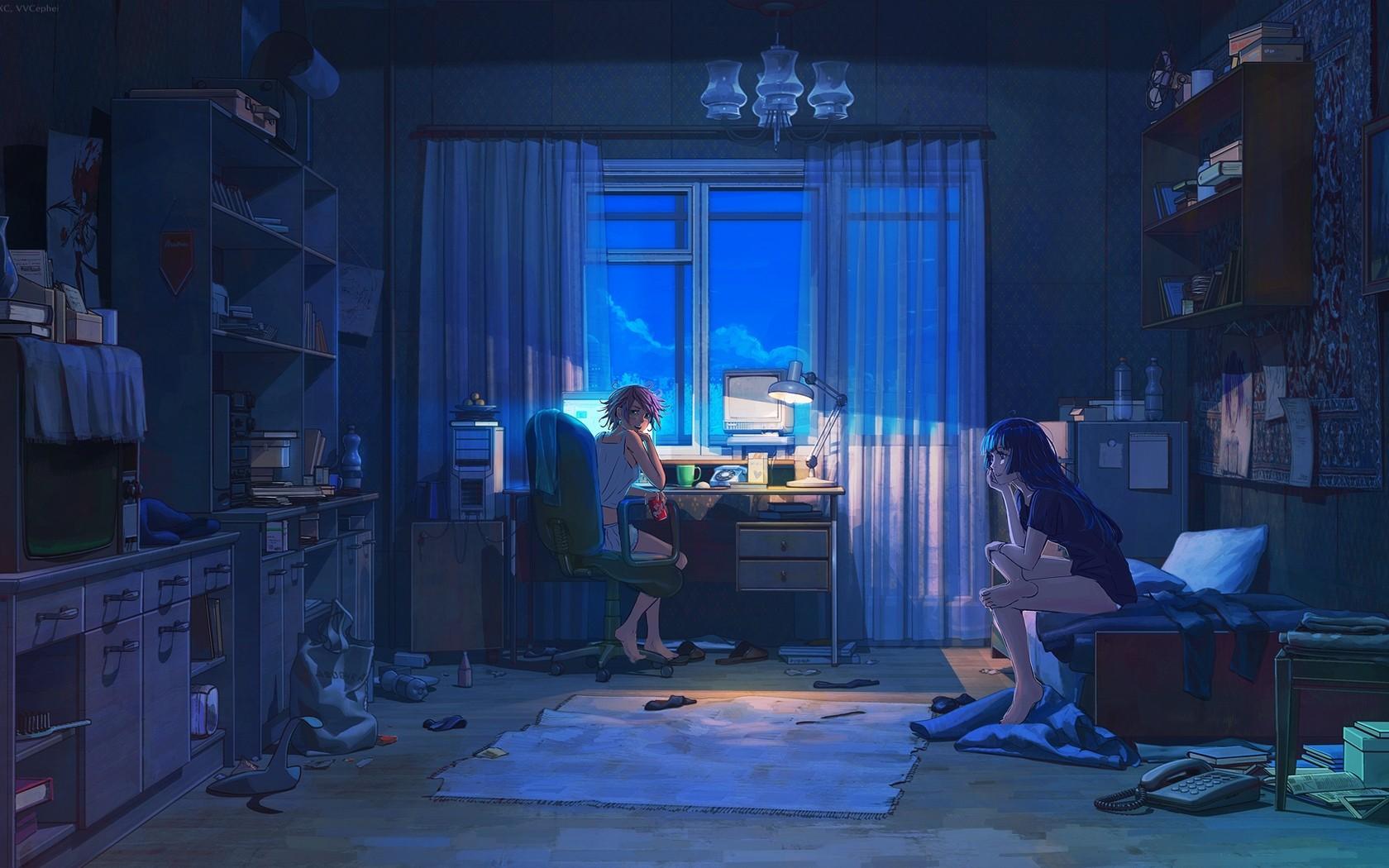 Anime Girls Room Wallpaper 1680x1050 ID49933 1680x1050