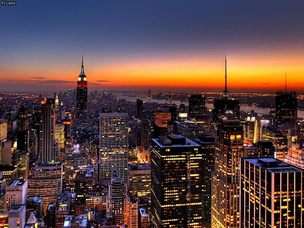 NYC Skyline Wallpaper at Night wallpaper NYC Skyline Wallpaper at 1024x768