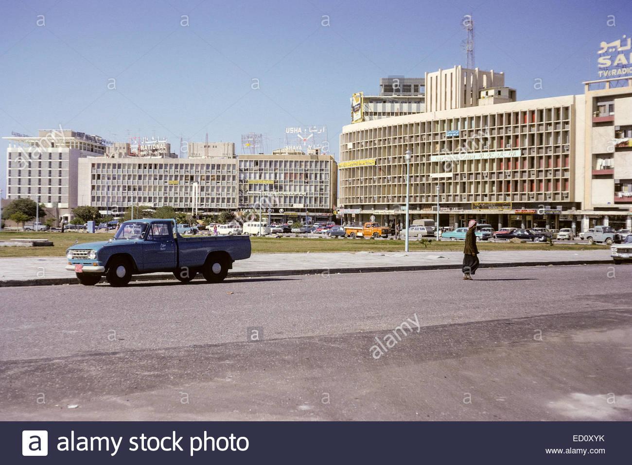 Kuwait April 1967 Downtown Kuwait Sheraton Hotel on Far Left 1300x957