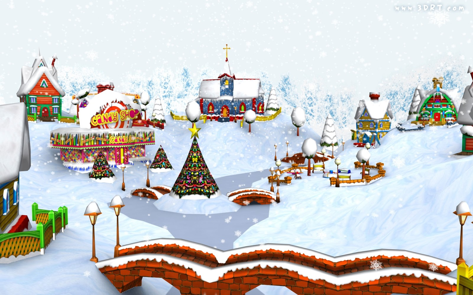 Verse Greetings Card Wallpapers HD Christmas Village Wallpaper 1600x1000