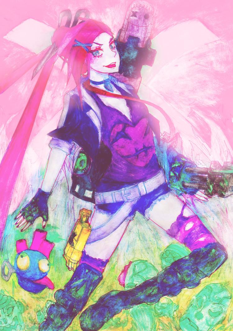 Zombie Slayer Jinx by HellThings 750x1064