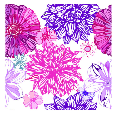Pink and purple flower backgrounds wallpapersafari pink and purple flowers wallpaper 500x500 mightylinksfo
