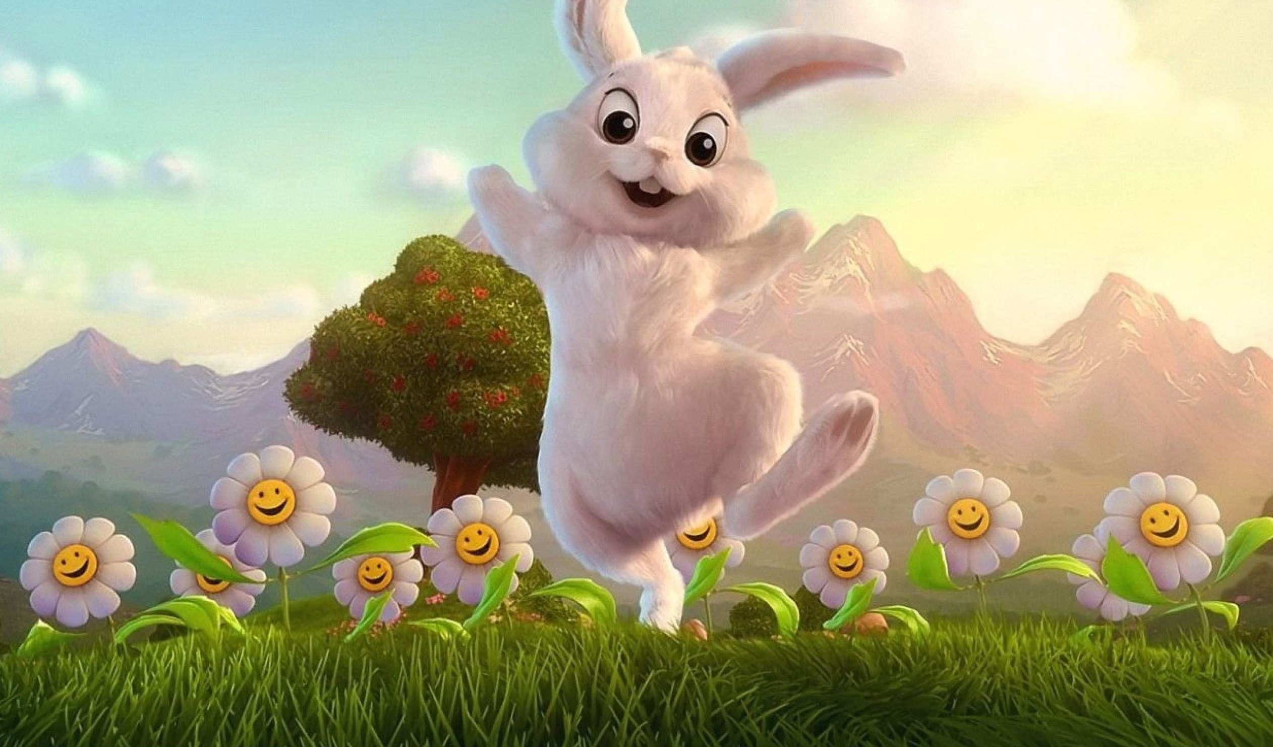 Happy Easter Bunny Desktop Wallpapers   New HD Wallpapers 2524x1481