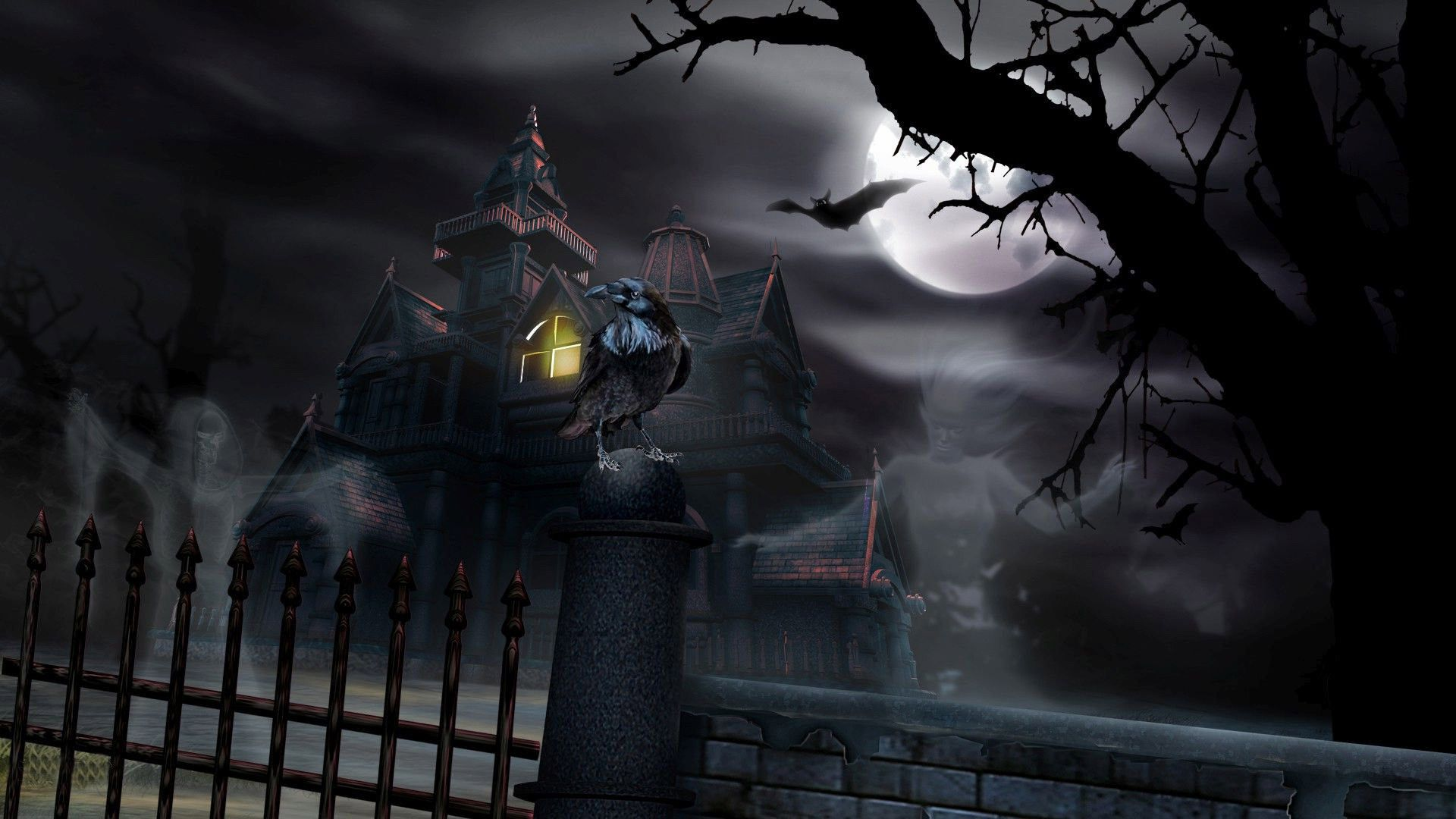 Wallpapers For Haunted House Wallpaper 1920x1080