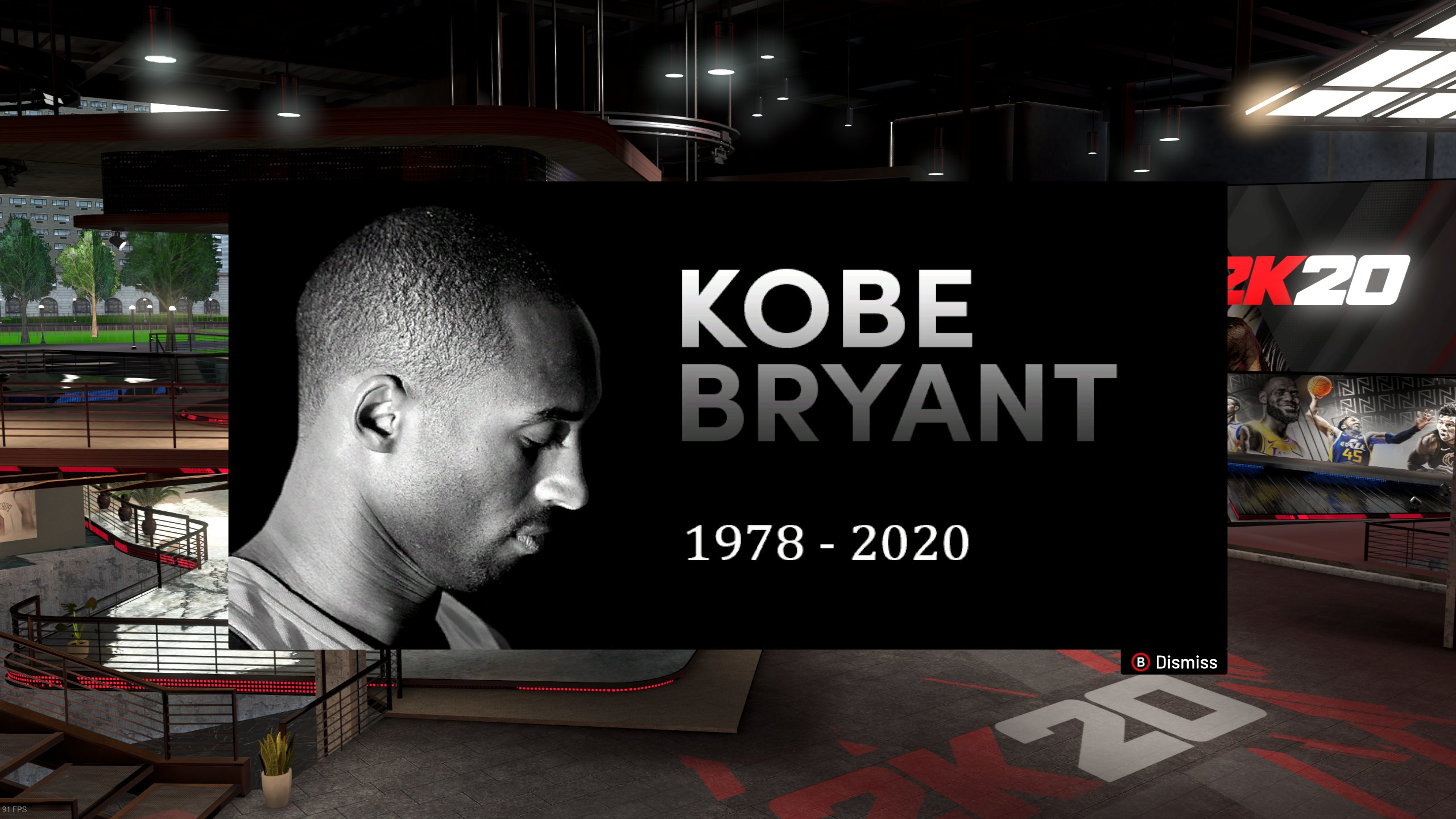 NBA 2K20 Commemorates Kobe Bryant With In Game Tribute   IGN 2560x1440